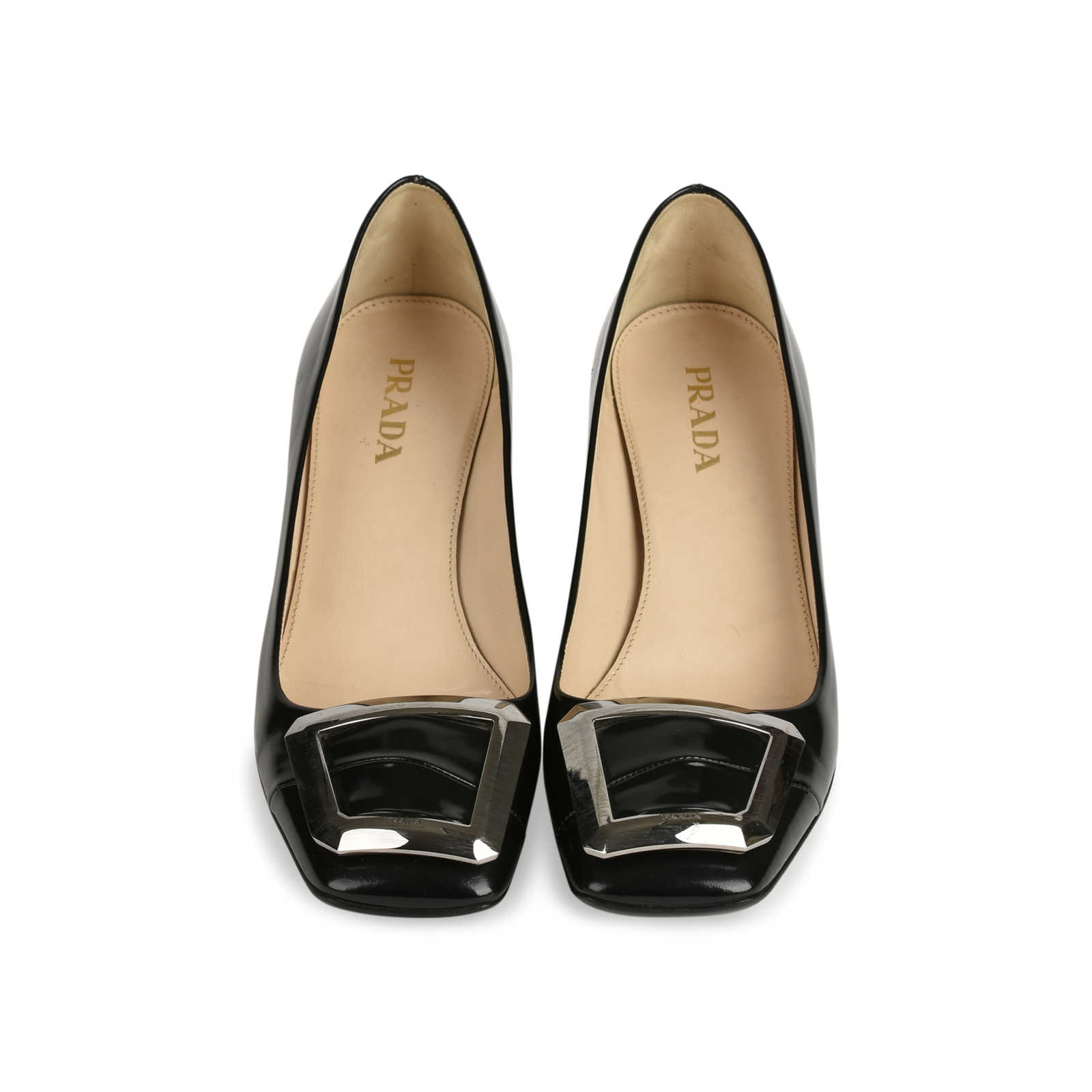 Prada Patent Leather Square-Toe Flats w/ Tags Free Shipping Hot Sale Best Authentic Cheap Sale Footlocker 89KsROb2fA