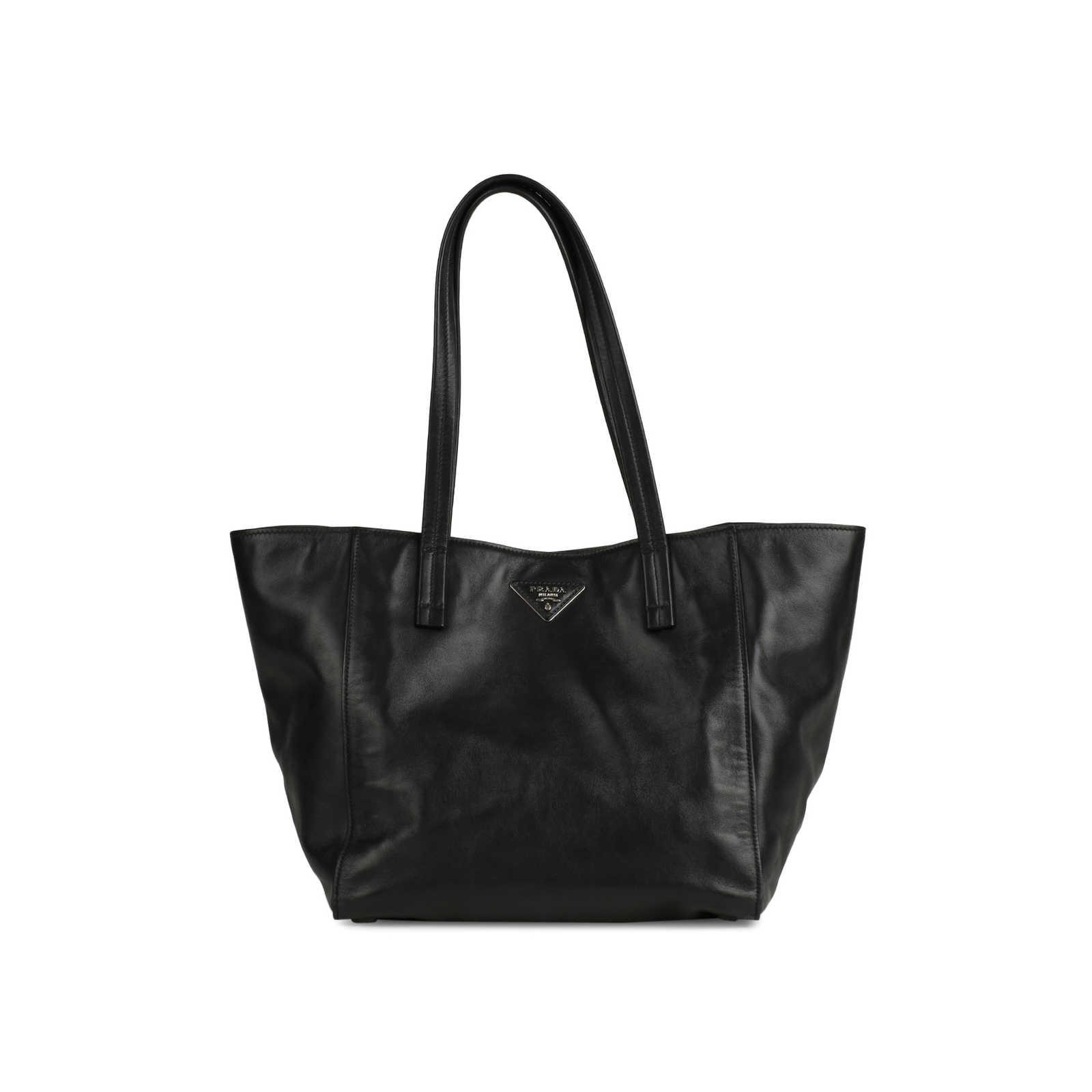 2366c5e0ba0f Authentic Second Hand Prada Soft Calf Skin Leather Tote Bag (PSS-145-00159  ...