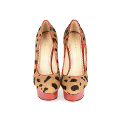 Dolly Leopard Platform Pumps