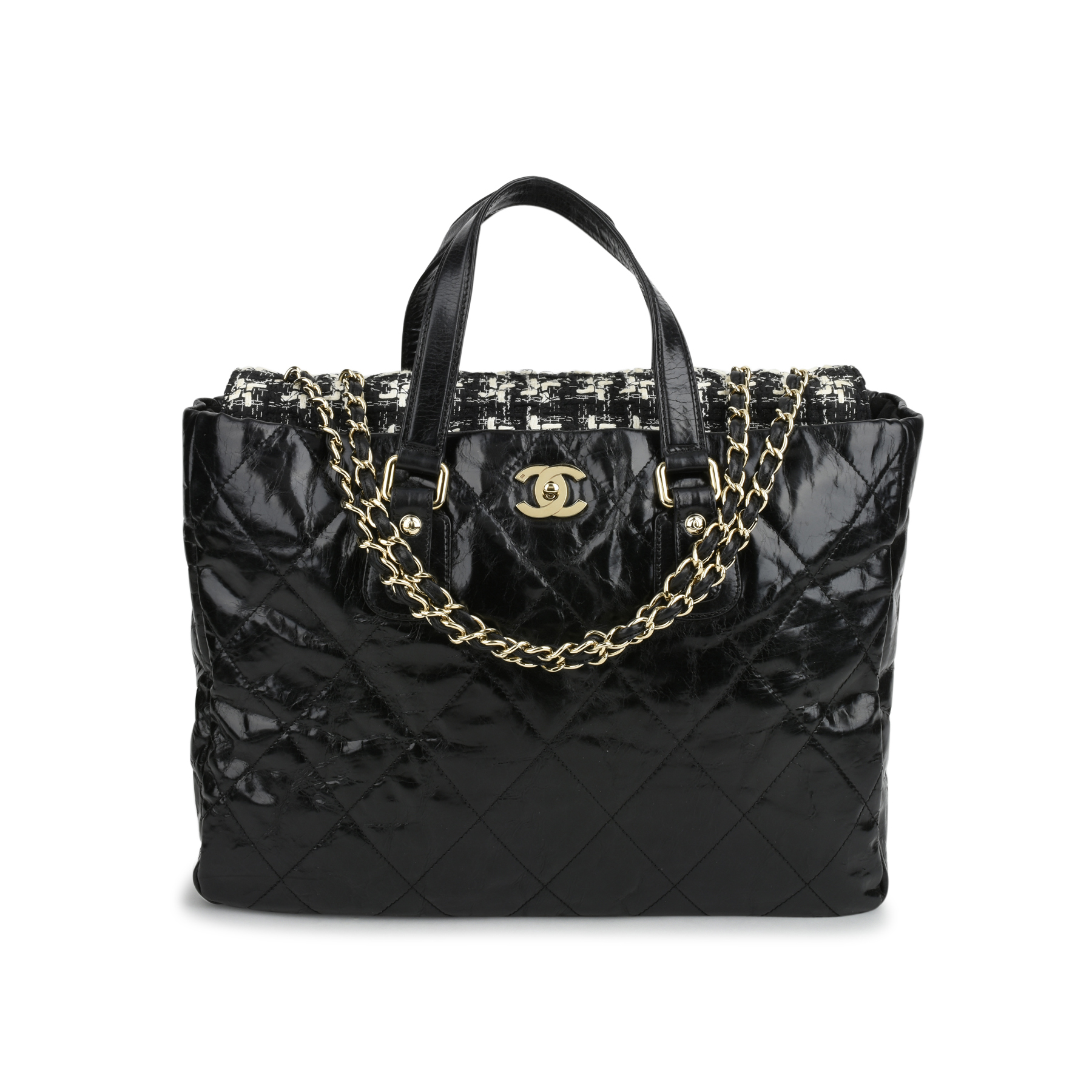 545df3d7f9e5 Authentic Second Hand Chanel Glazed Calfskin Tweed Portobello Tote Bag  (PSS-200-01075) | THE FIFTH COLLECTION