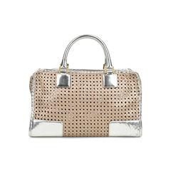 Loewe amazona woven bag metallic 2?1518507462