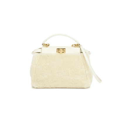 Fendi Mini Peekaboo Shearling Bag