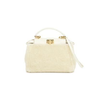 Authentic Pre Owned Fendi Mini Peekaboo Shearling Bag (PSS-200-01070)