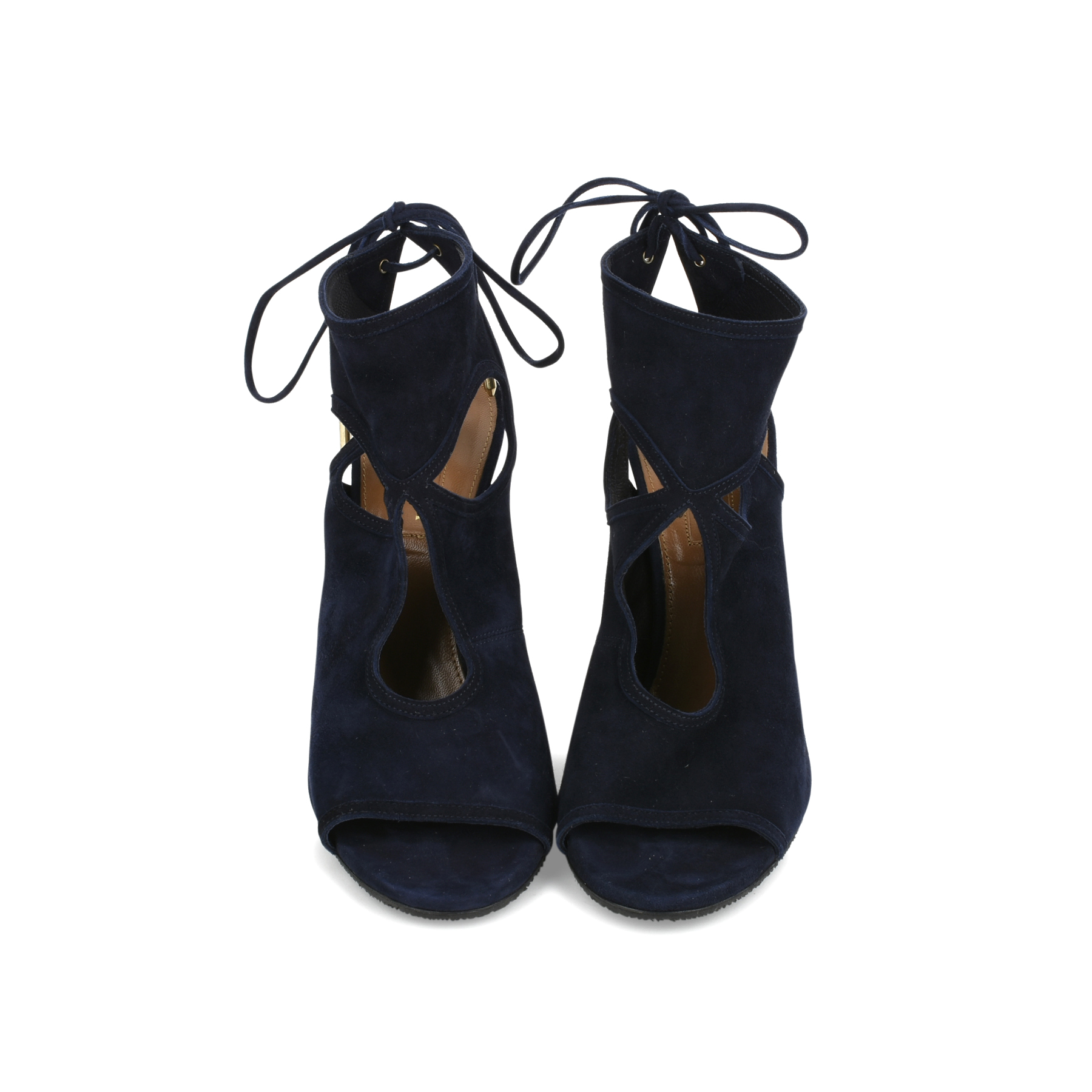203c729eb35a Authentic Second Hand Aquazzura Sexy Thing Suede Sandals (PSS-444-00006)