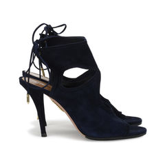 Aquazzura sexy thing suede sandals blue 4?1518589199