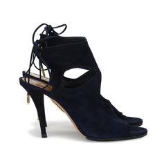 Aquazzura sexy thing suede sandals blue 4?1518589199