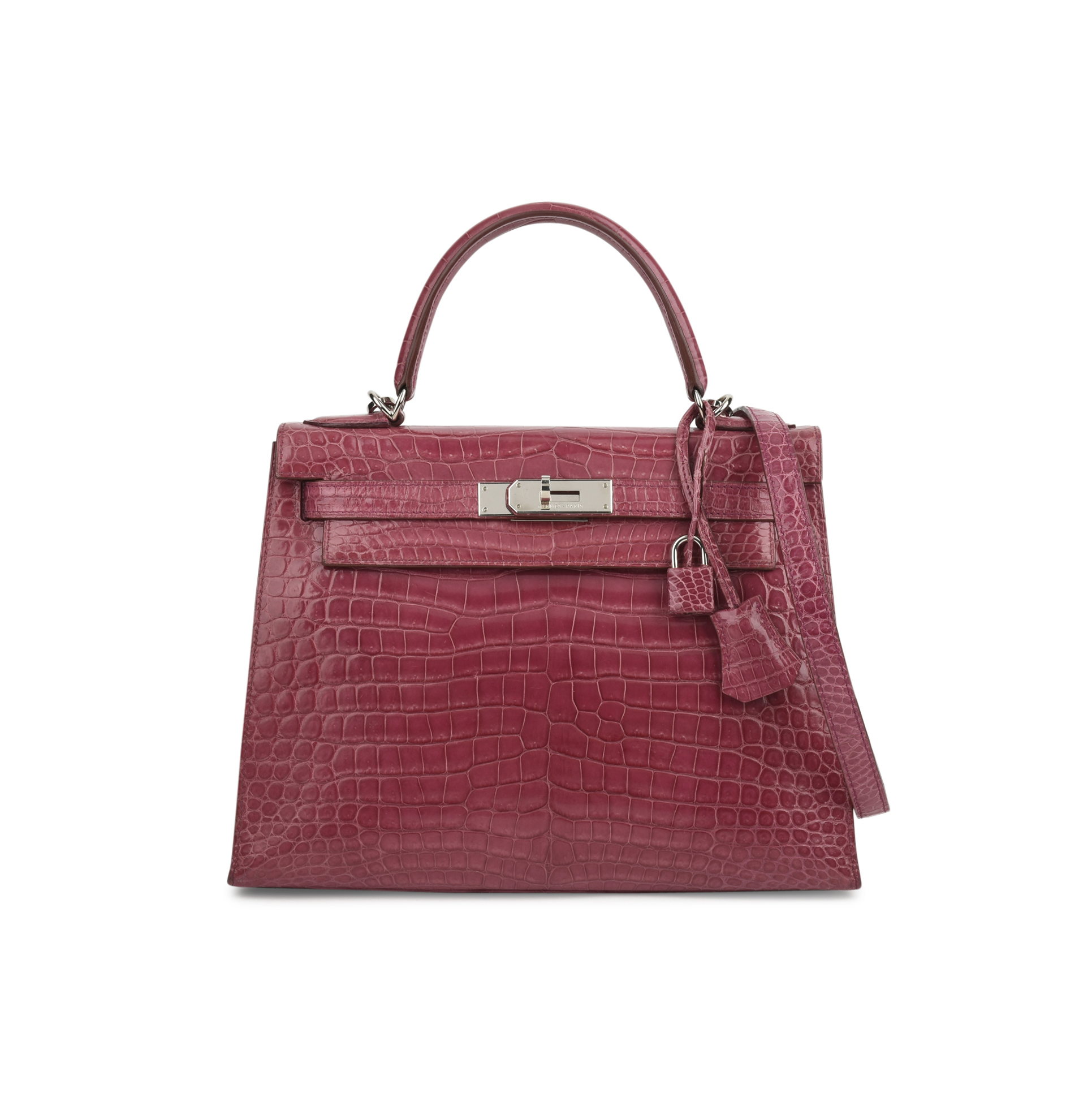 d97e9acfd8b3 ... 50% off second hand hermes fuchsia porosus kelly 28 the fifth  collection af5e4 27e32