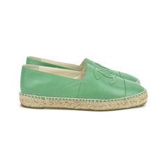 Chanel lambskin espadrilles green 1?1518669021