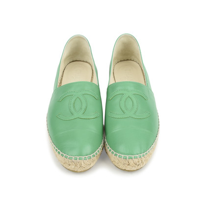 Authentic Second Hand Chanel Lambskin Espadrilles (PSS-126-00072)