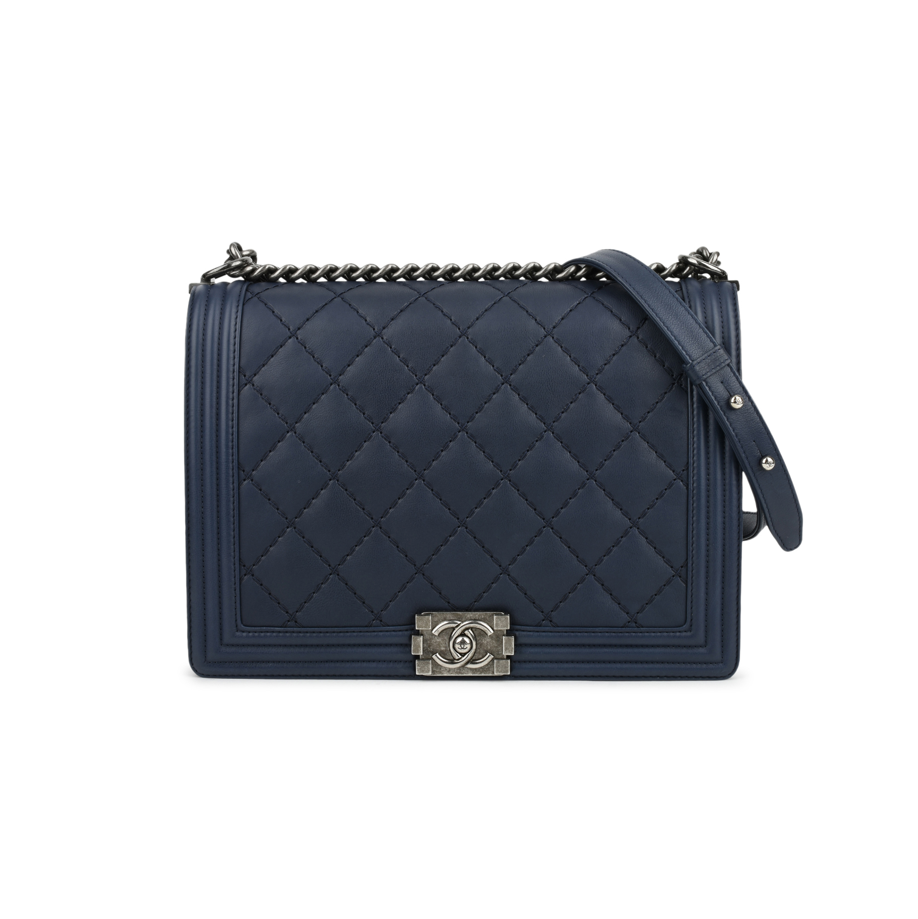 0e4da13d1639 Authentic Second Hand Chanel Large Boy Bag (PSS-291-00011) | THE FIFTH  COLLECTION