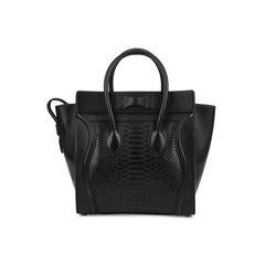 Celine micro luggage tote black 2?1518670262