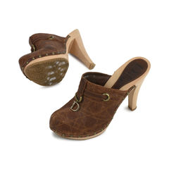 Christian dior brown platform mules 2?1518672560