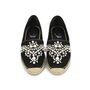 Authentic Second Hand René Caovilla Pearl Embroidered Suede Espadrilles (PSS-240-00201) - Thumbnail 0
