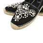 Authentic Second Hand René Caovilla Pearl Embroidered Suede Espadrilles (PSS-240-00201) - Thumbnail 5
