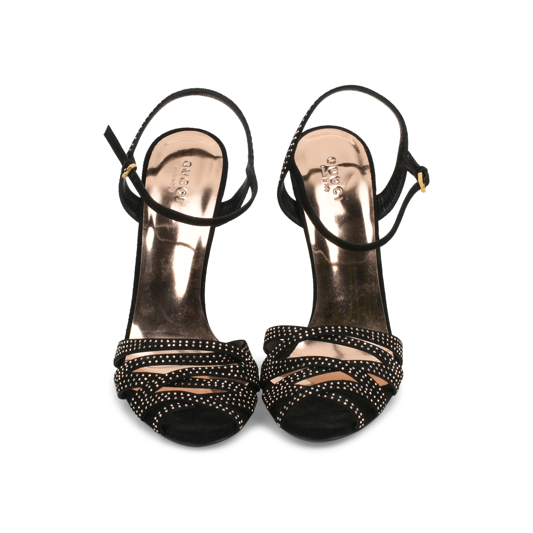 cc56d18ecdcc Authentic Second Hand Gucci Studded Multi-Strap Sandals (PSS-443-00001)