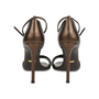Authentic Second Hand Gucci Striped Bronze Sandals (PSS-443-00002) - Thumbnail 2