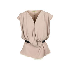 Silk Pleated Top