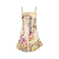 Printed Dress with Ruffle Hem