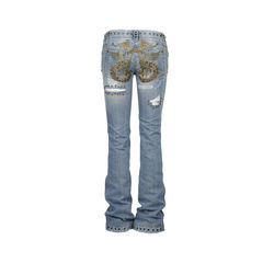 Dolce and gabanna eyelet studded distressed jeans 1?1519185228