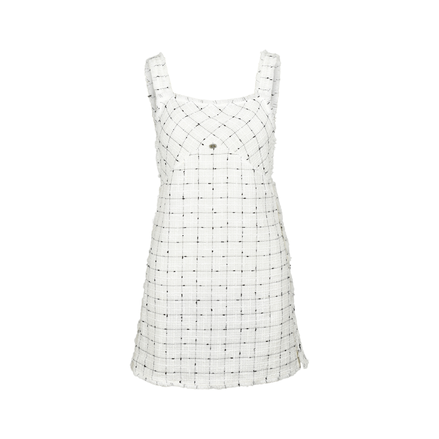 8cc901e425d Authentic Second Hand Chanel Tweed Overall Mini Dress (PSS-240-00205 ...