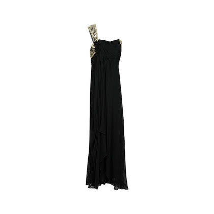 Authentic Second Hand Marchesa Embellished Asymnetric Silk Gown (PSS-126-00073)