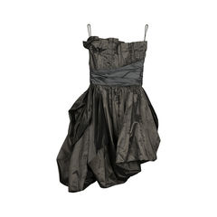 Emporio armani pleated strapless dress 2?1519186117