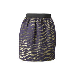 Zebra Printed Metallic Skirt