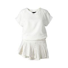 Crepe Blouson Mini Dress