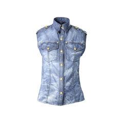 Denim Sleeveless Shirt