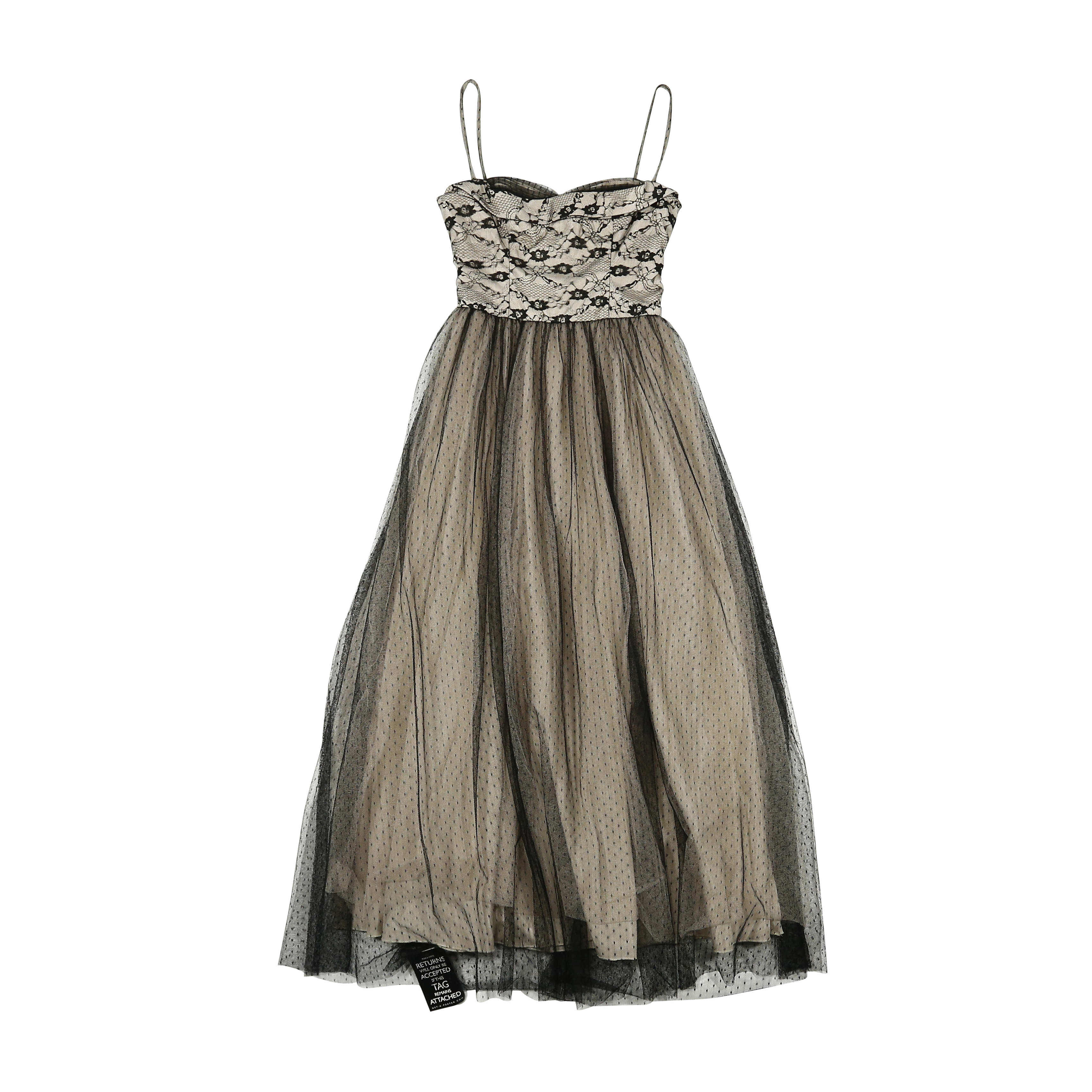 Second Hand Red Valentino Lace Evening Dress Neutral | THE FIFTH ...