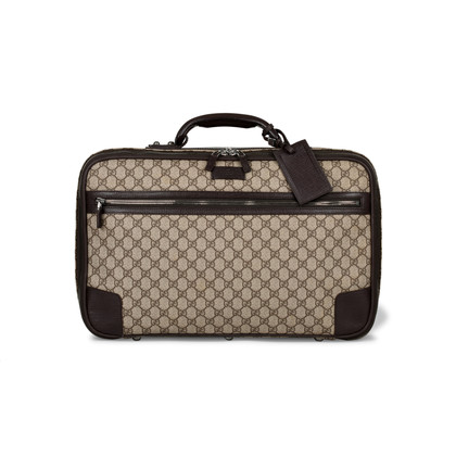 Authentic Vintage Gucci Dual Ziparound Suitcase (PSS-430-00016)