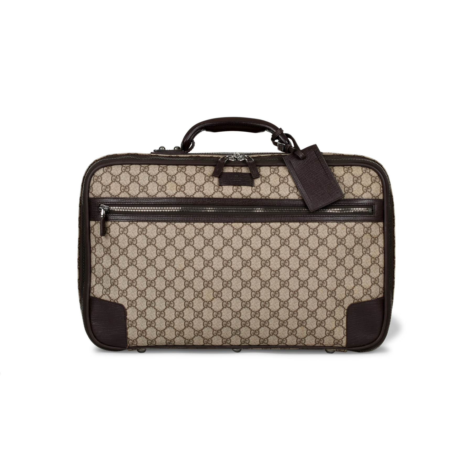 1d0efe4b8c352f Authentic Vintage Gucci Dual Ziparound Suitcase (PSS-430-00016) | THE FIFTH  COLLECTION