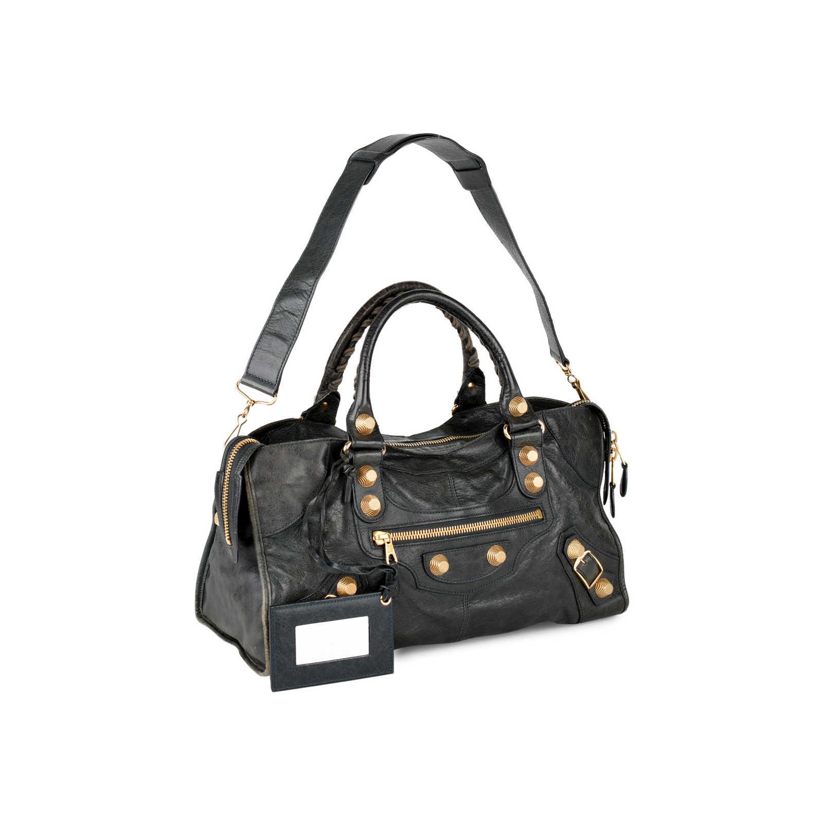 e2b7dbc34d ... Authentic Second Hand Balenciaga Part-Time Giant City Bag  (PSS-439-00004 ...