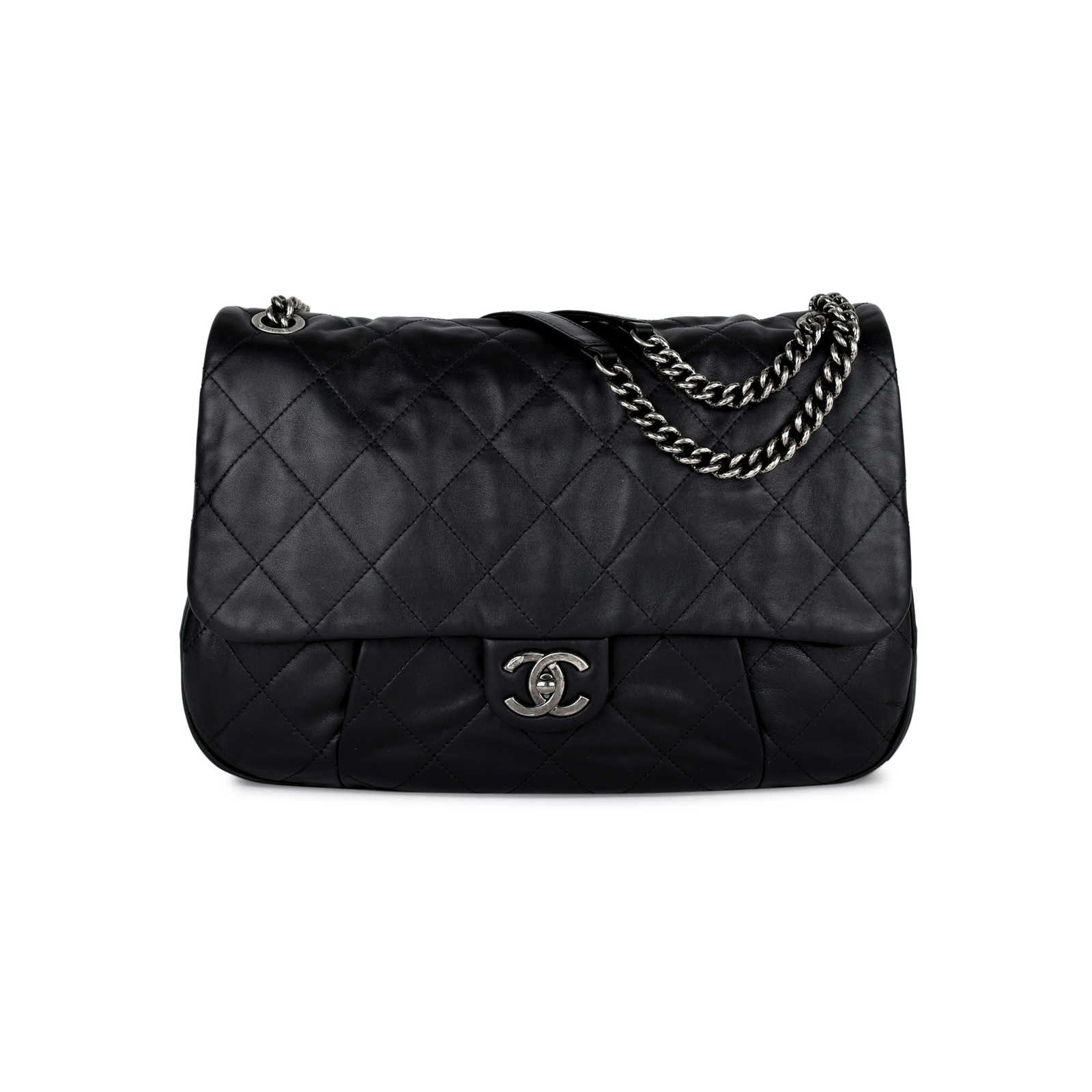 efeb0c9fe256 Authentic Pre Owned Chanel Coco Pleats Flap Bag Pss 442 00020