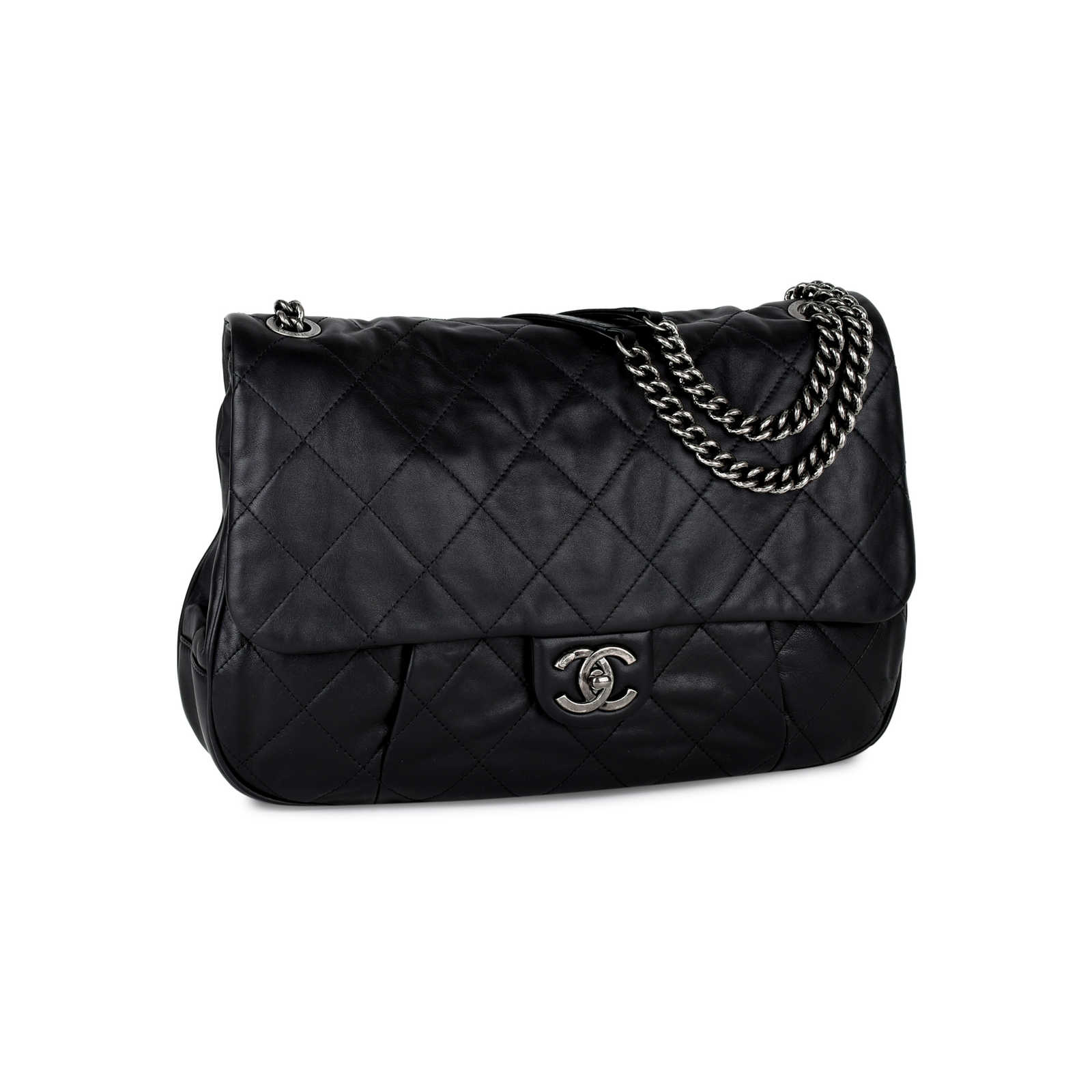 38bc7844fb6f ... Authentic Second Hand Chanel Coco Pleats Flap Bag (PSS-442-00020) ...