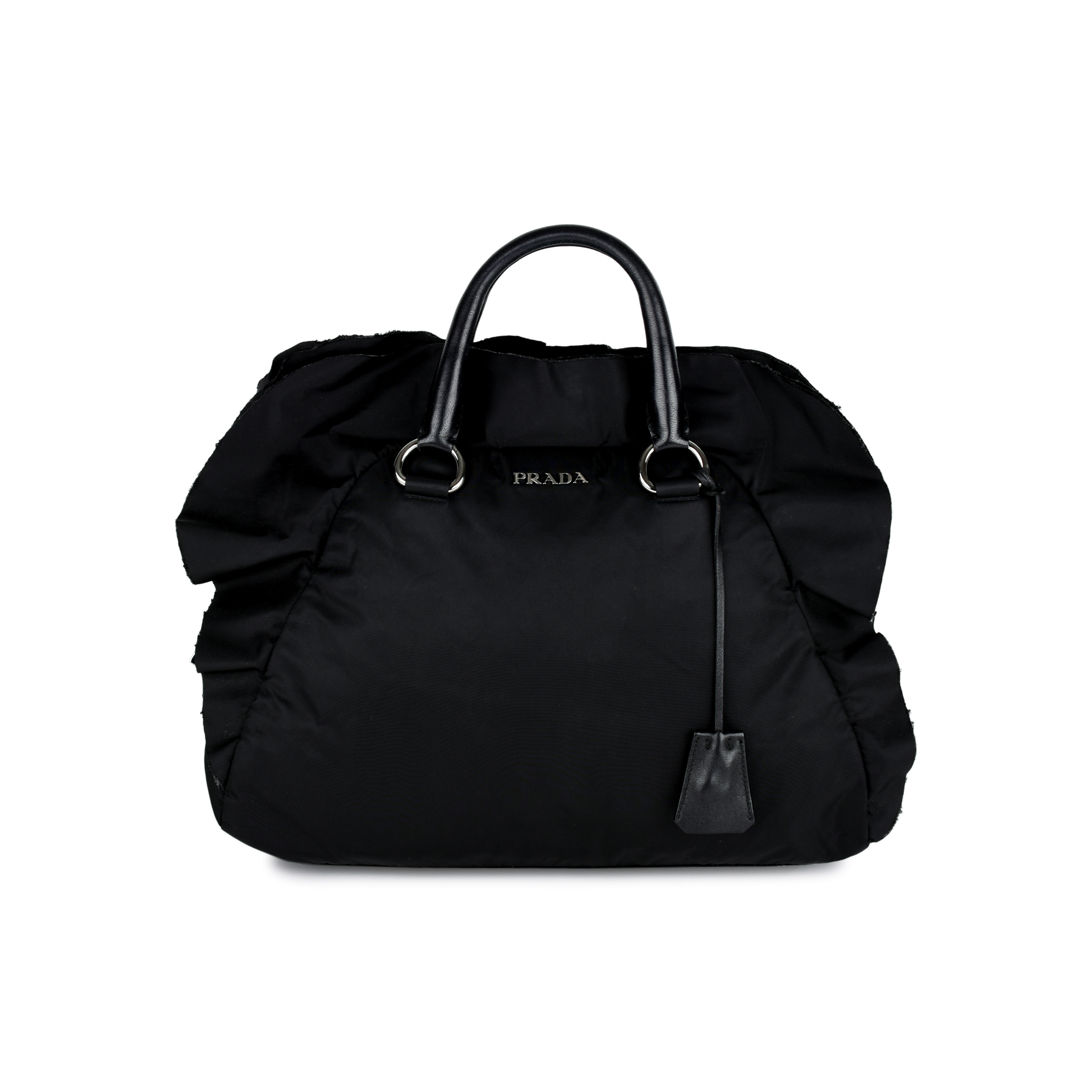 d44a6b22c77653 Authentic Second Hand Prada Tessuto Nylon Ruffle Bag (PSS-370-00057) | THE  FIFTH COLLECTION
