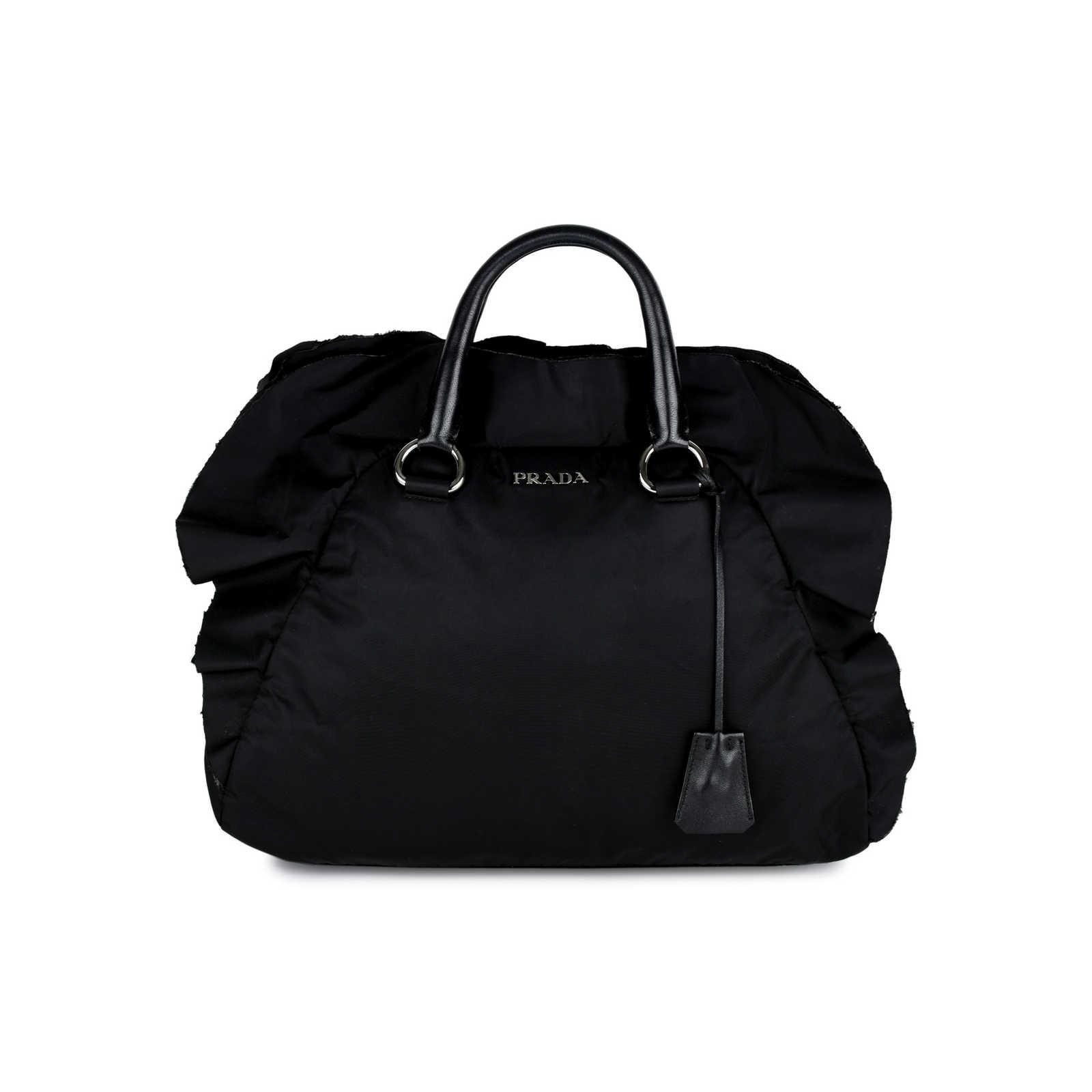 0392b4b613d0 cheap prada tessuto nylon nappa shoulder bag nero black 80348 0aa44 bfb52;  free shipping prada tessuto nylon ruffle bag thumbnail 0 0873c ef820