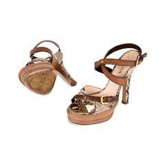 Prada snakeskin criss cross sandals 2?1519799811