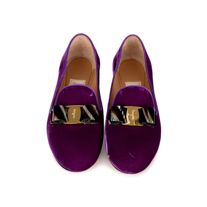 Authentic Second Hand Salvatore Ferragamo Scotty T Slippers (PSS-334-00015)