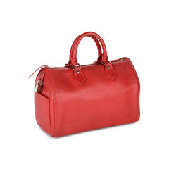 Louis vuitton red epi leather speedy 25 bag 2?1519799943