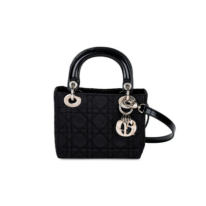 Christian Dior Nylon Micro Lady Dior Bag
