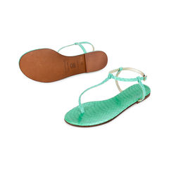 Avec moderation t strap python sandals green 2?1519899601