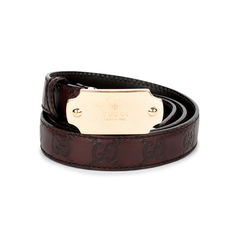 Gucci logo belt brown 2?1519899942