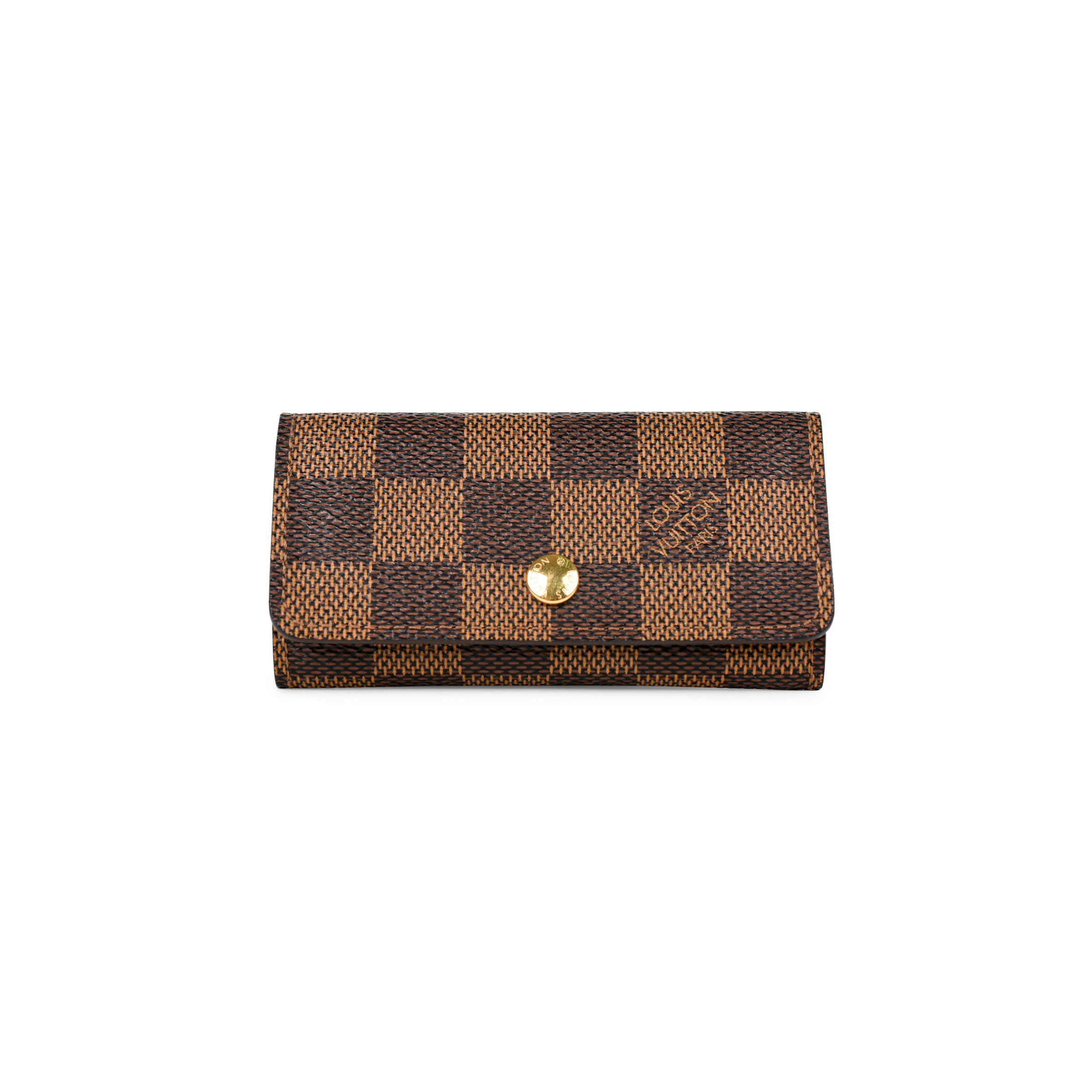 Authentic Pre Owned Louis Vuitton Damier 4 Key Holder (PSS-375-00045 ... 44659b84a