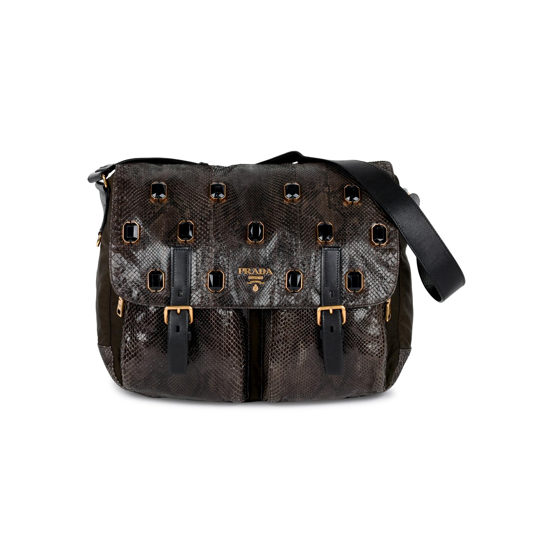 6627ebc53c8e16 ... coupon code for second hand prada python jewel messenger bag the fifth  collection 10872 2bc0a