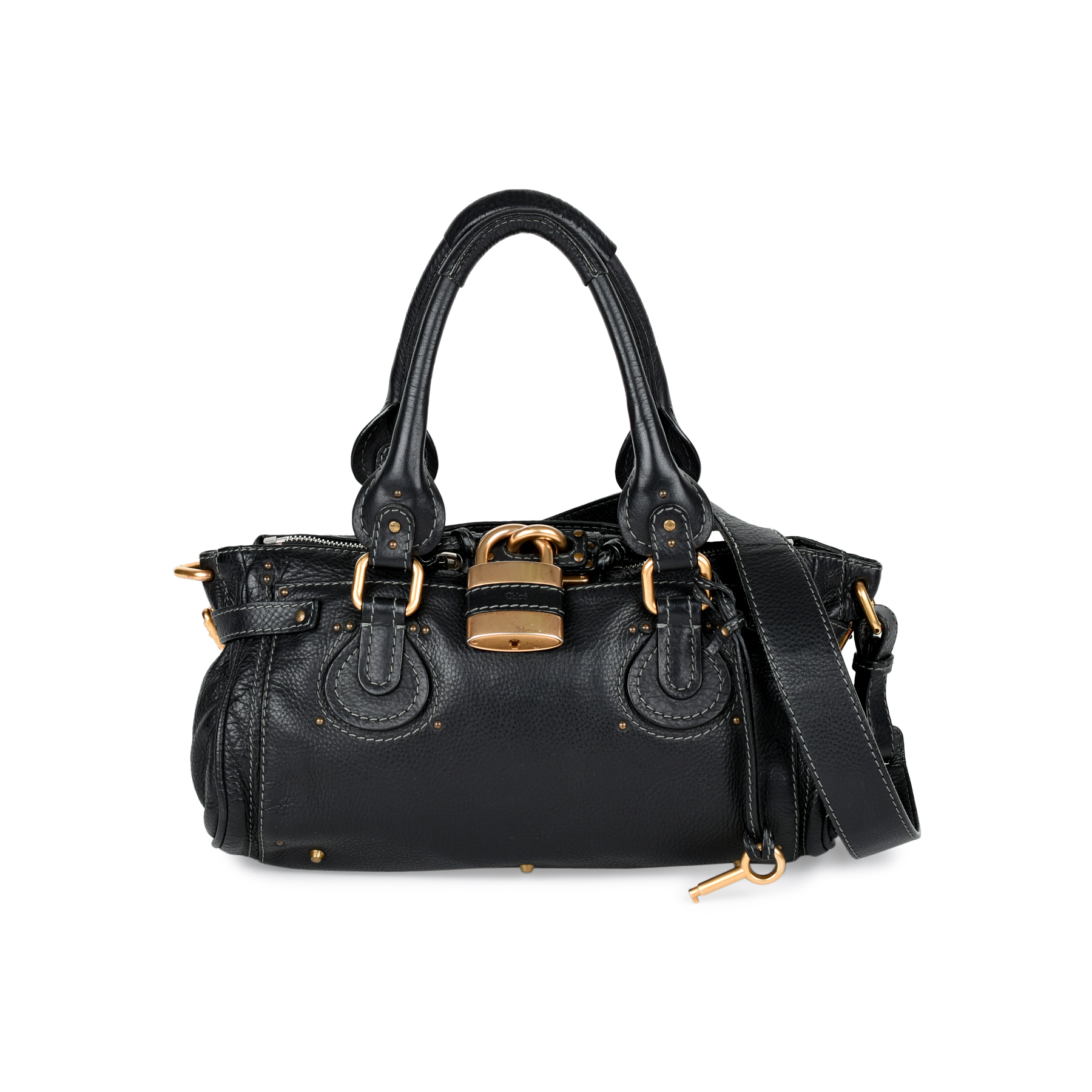 Authentic Pre Owned Chloé Paddington Bag Pss 449 00004 The Fifth Collection