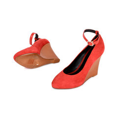 Celine colourblock wedge pumps red 2?1519968425