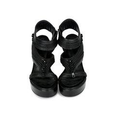 Zip Platform Sandals
