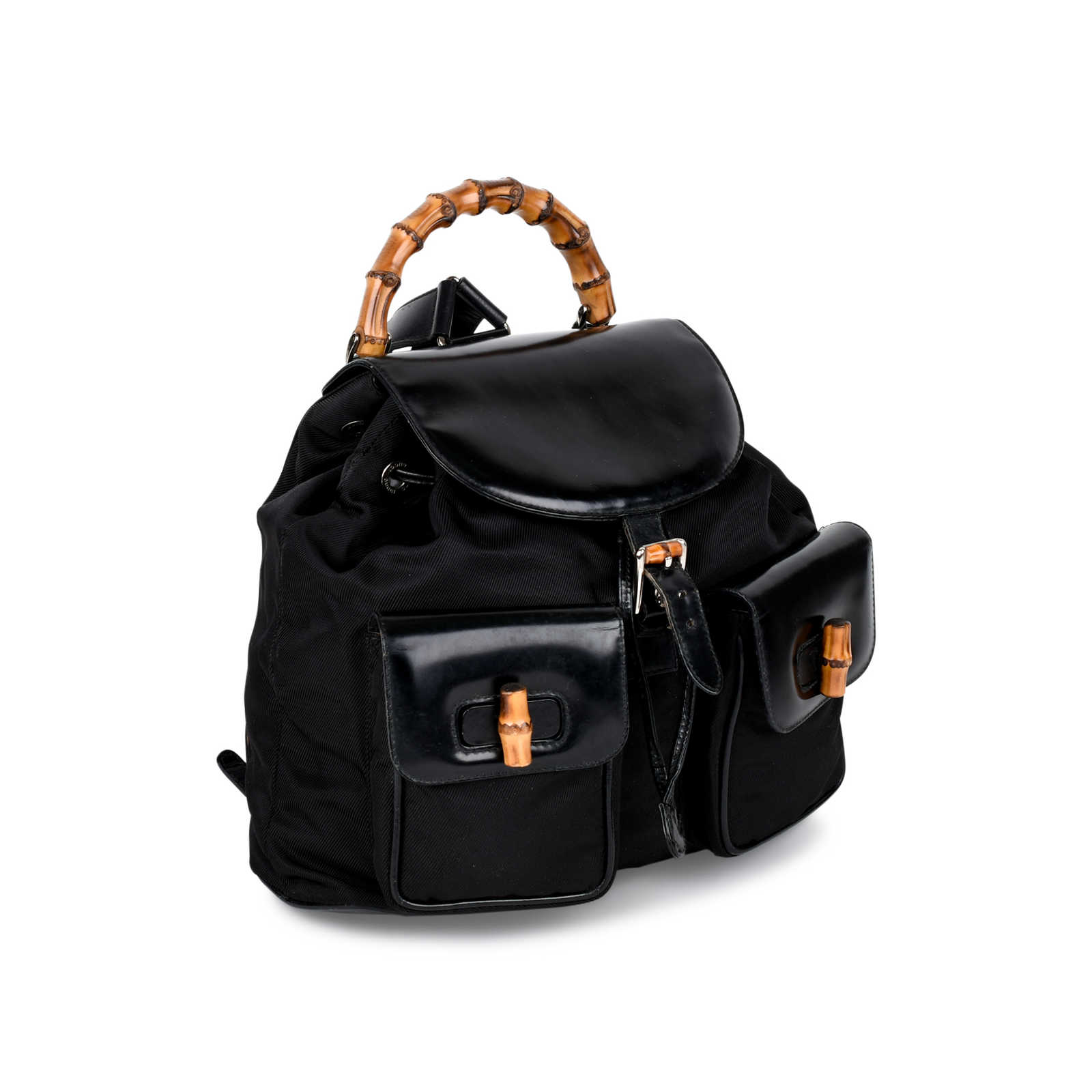 982cb5a6a9f ... Authentic Vintage Gucci Bamboo Backpack (PSS-214-00023) - Thumbnail 1  ...