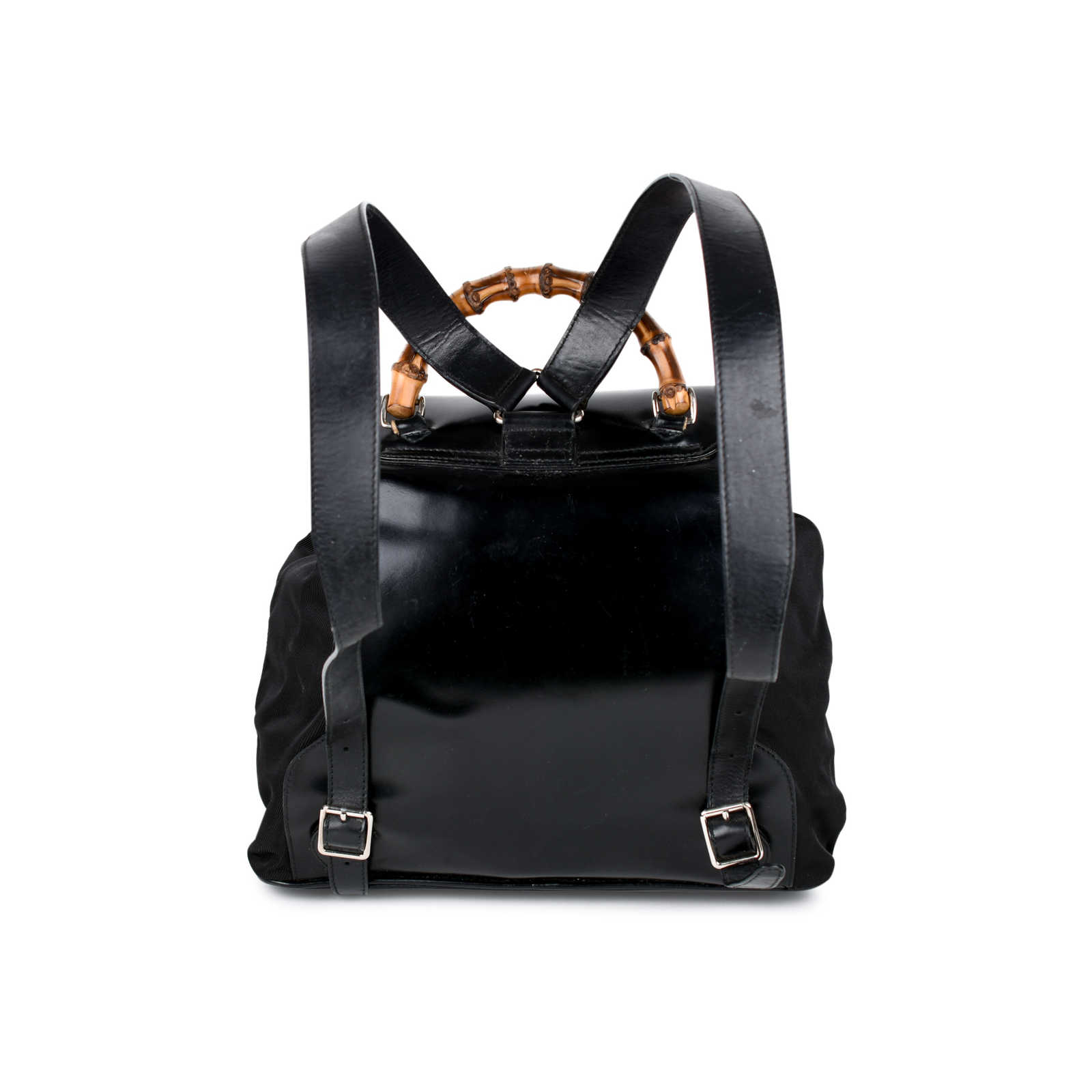 af9b64d8714 ... 1 Authentic Vintage Gucci Bamboo Backpack (PSS-214-00023) - Thumbnail 2  ...